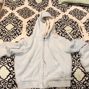 Baby blue fuzzy jacket